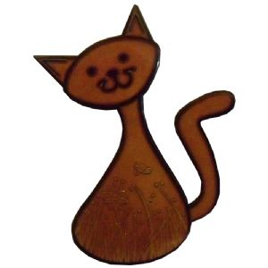 CacheCat (Cat) Geocoin - Copper / Black Nickel